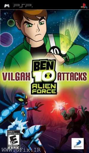 دانلود بازی Ben 10 Alien Force: Vilgax Attacks برای پی اس پی